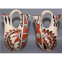 TWO JEMEZ POTTERY WEDDING VASES