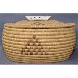 ESKIMO  LIDDED BASKET