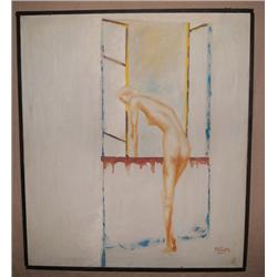 ORIGINAL PAINTING OF NUDE WOMAN