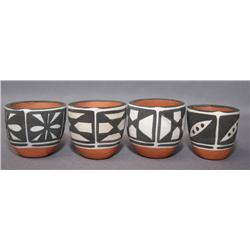 FOUR SANTO DOMINGO POTTERY BOWLS