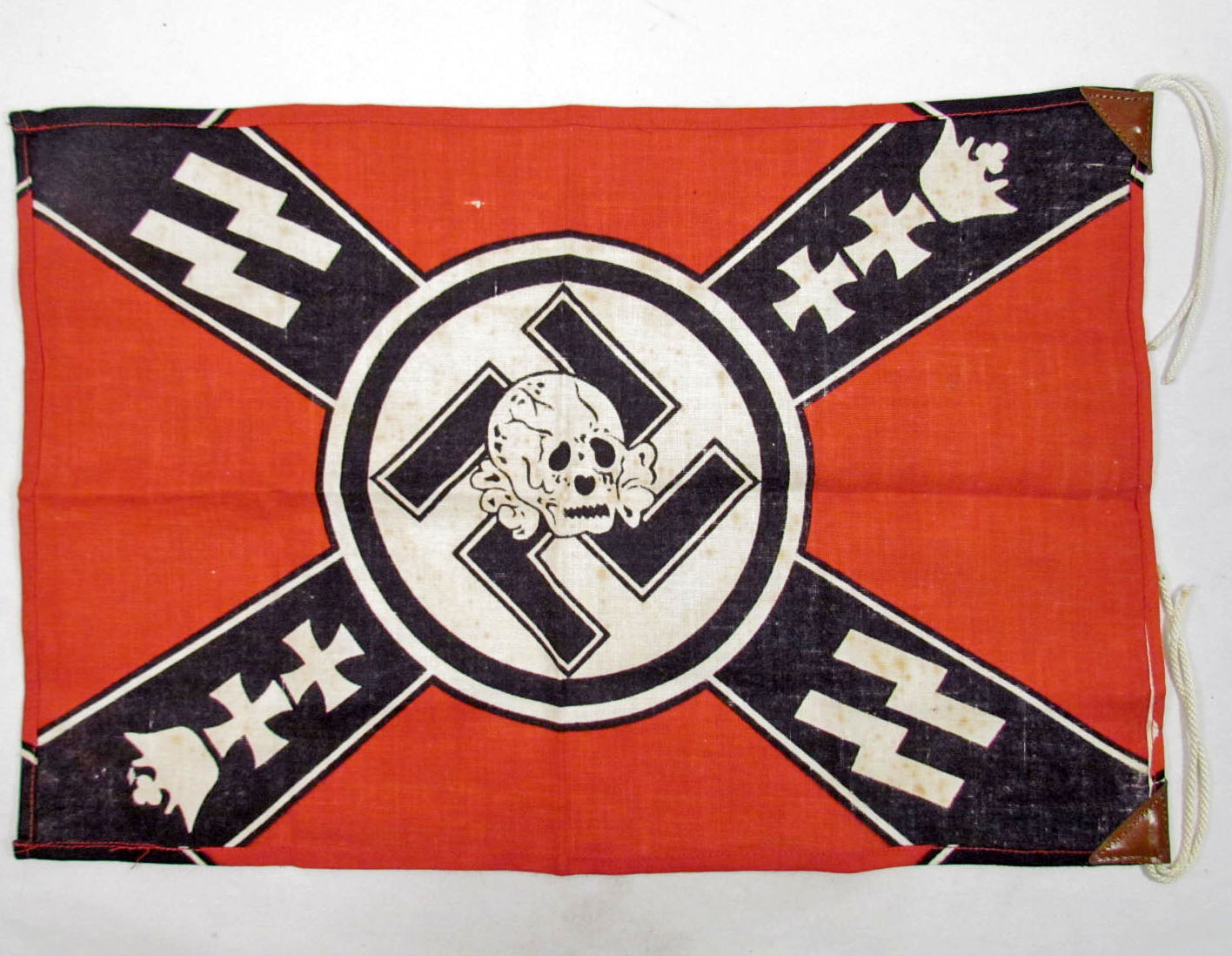 German nazi waffen ss banner skull flag image 2 german nazi waffen ss banner skull flag biocorpaavc Image collections
