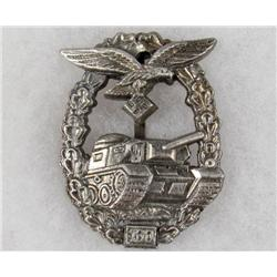 GERMAN NAZI LUFTWAFFE TANK ASSAULT BADGE - 100 ASSAULTS