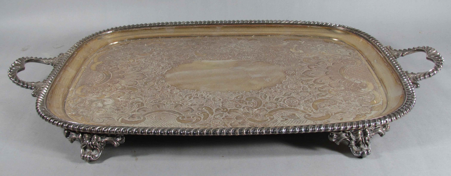 Antique Silver Plated Trays & Antique Silver Plated Tray ...