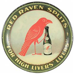 Red Raven Splits Tin Tip Tray