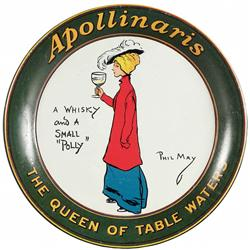 Apollinaris Table Water Tin Tip Tray