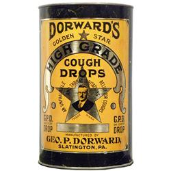 Dorward's Cough Drops Tin