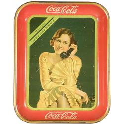 1930 Coca Cola Tin Serving Tray