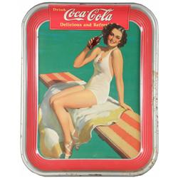 1939 Coca Cola Tin Serving Tray