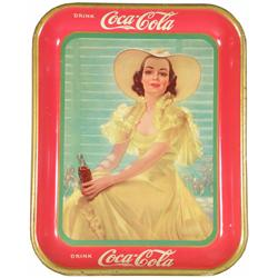 1938 Coca Cola Tin Serving Tray