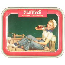 1940 Coca Cola Tin Serving Tray