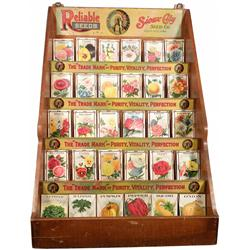 Souix City Seed Co. Store Display w/seed packs