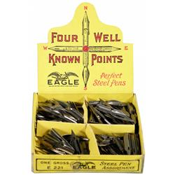 """Four Well Know Points"" Steel Pens Display"