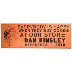 """Everybody is Happy…"" Embossed Tin Sign"
