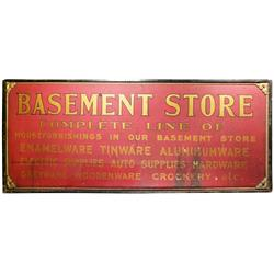 Basement Store Outdoor Wood Sign