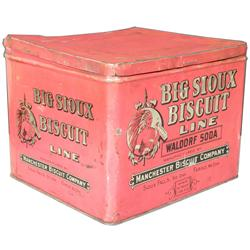 Big Sioux Biscuit Line Tin Store Display Box