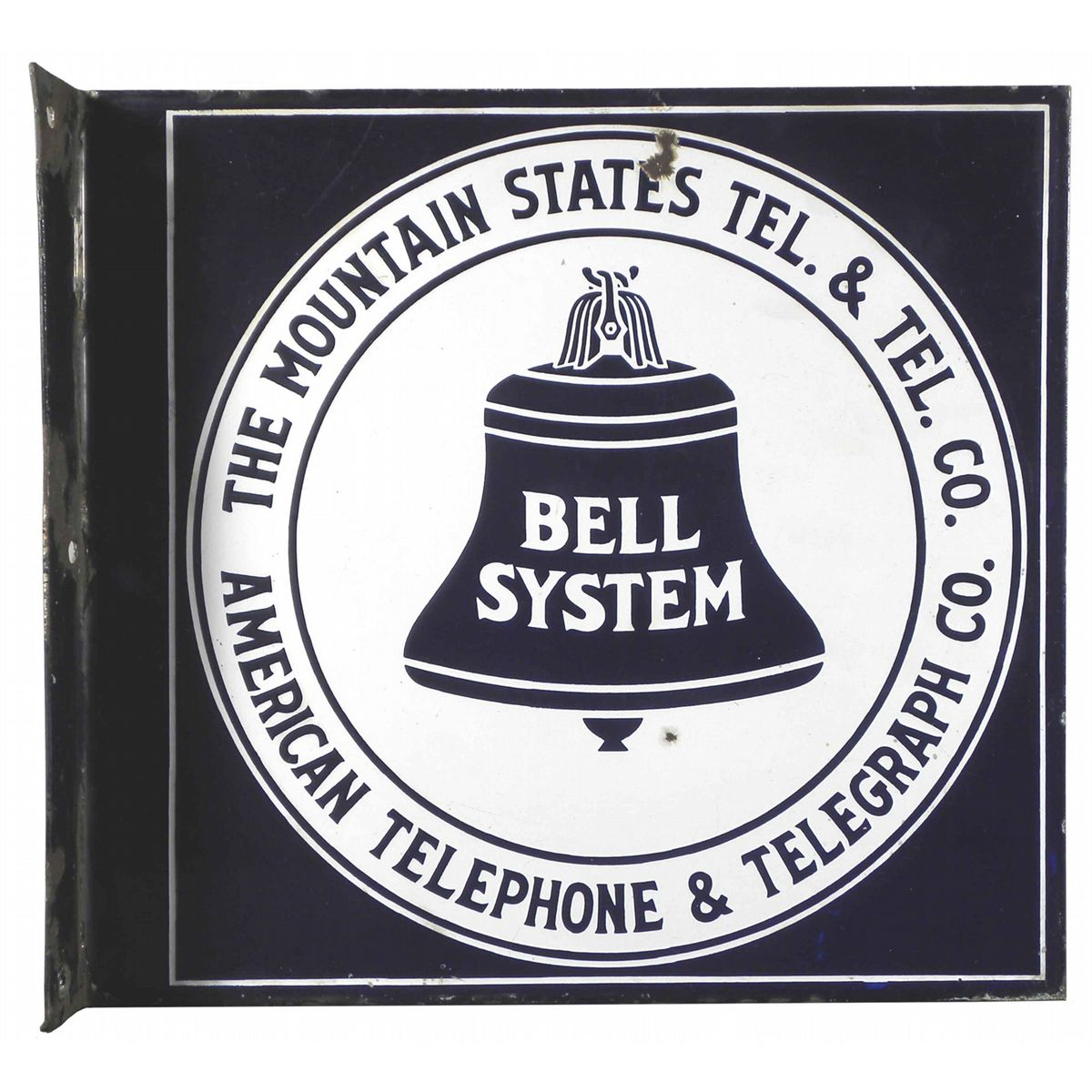 Bell System Mountain States Porcelain Sign