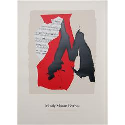 Robert Motherwell, Lincoln Center Mostly Mozart, Lithograph
