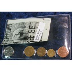 11. Five-Piece South African Type Set of Coins. Includes