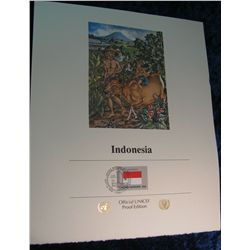 14. Sept. 22, 1989 UNICEF Official First Day Cover from Indonesia