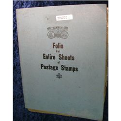 15. Used Dansco Folio for Entire Sheets of Postage Stamps.