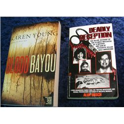 "25. ""Deadly Deception"" Pbk. & ""Blood Bayou"" Pbk."