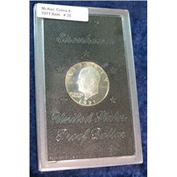 35. 1971 S Eisenhower Silver Dollar. Proof. In hard case.