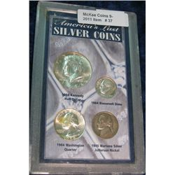 37. America's Last Silver Coins Four-piece Type Set.