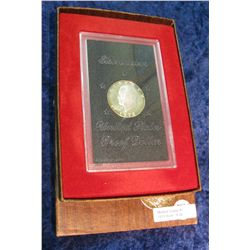 38. 1971 S Eisenhower Silver Dollar. Proof. In original box.