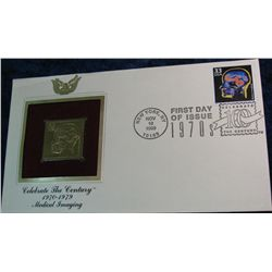 "41. 1999 22K Gold Stamp ""Celebrate the Century 1970-79"