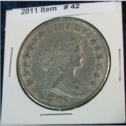 42. Copy of 1804 Draped Bust Dollar.