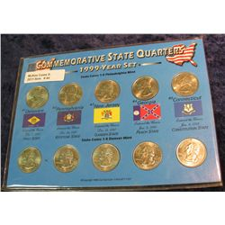 44. 1999 P & D Commemorative State Quarter Set. BU.