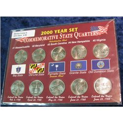 46. 2000 P & D Commemorative State Quarter Set. BU.