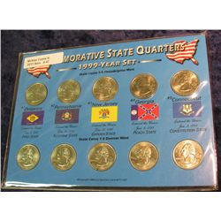 47. 1999 P & D Commemorative State Quarter Set. BU.