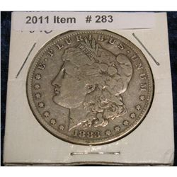 283. 1883 S Morgan Silver Dollar. F-12.