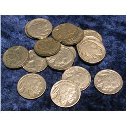 565. (16) Buffalo Nickels dating in the Twenties. Circ.