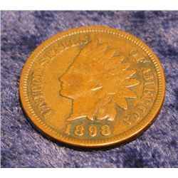 566. 1898 Indian Head Cent. VF 20.
