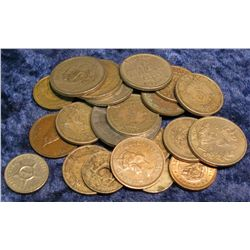 574. Group of slightly better Foreign Coins including Mexico.
