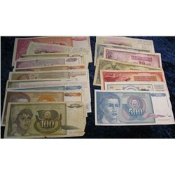 595. (20) Old Foreign Bank Notes. Includes Yugoslavia,