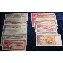598. (20) Old Foreign Bank Notes. Includes Yugoslavia & Hercegovina.