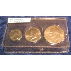 754. 1976 Three-Piece Set Bicentennial Coins. Includes