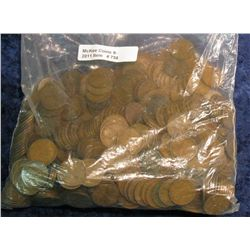756. (600+) 1909-39 Wheat Cents. Mixed date and mint marks.