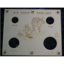 760. Capital Plastics Holder- U.S. Gold Type Set. Four-coin set.