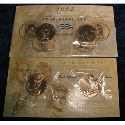 762. 2007 First Spouse Bronze Medal Series Four-Medal Set.