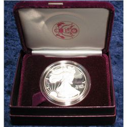 764. 1986 American Eagle Proof Silver Dollar in original case.