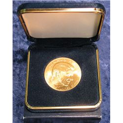 780. Ronald Reagan U.S. Mint Bronze Medal in a blue