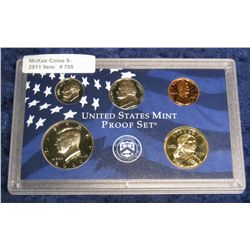 785. 2000 S Proof Cent, Nickel, Dime, Half-dollar, & Sacagawea