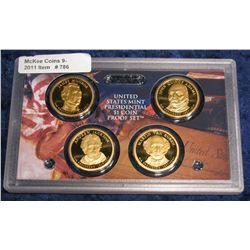 786. 2008 S Proof Presidential Dollars in original plastic Mint case. No box or COA.