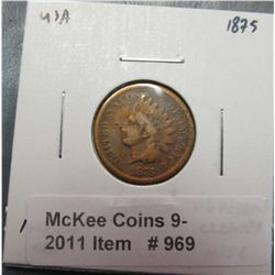 969. 1875 U.S. Indian Head Cent. G-4.