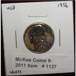 1127. 1956 P Jefferson Nickel. Proof 66.