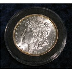 1166. 1879 P Morgan Dollar. MS 63.